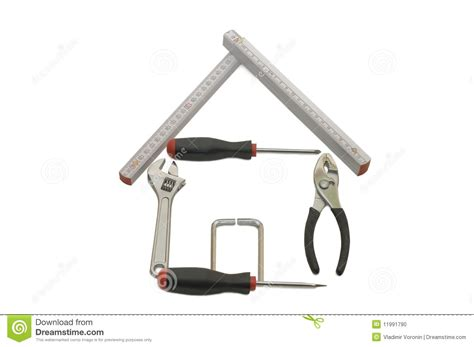 House From Building Tools Stock Photo   Image: 11991790