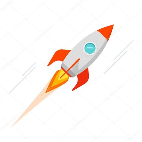 Spaceship Rocket rocket spaceship vector icon isolated stock vector
