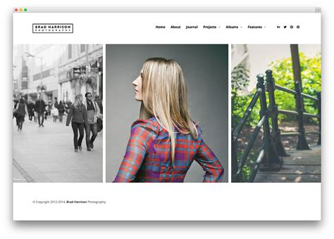 tumblr themes free horizontal scrolling 50 best photography wordpress themes 2018 colorlib