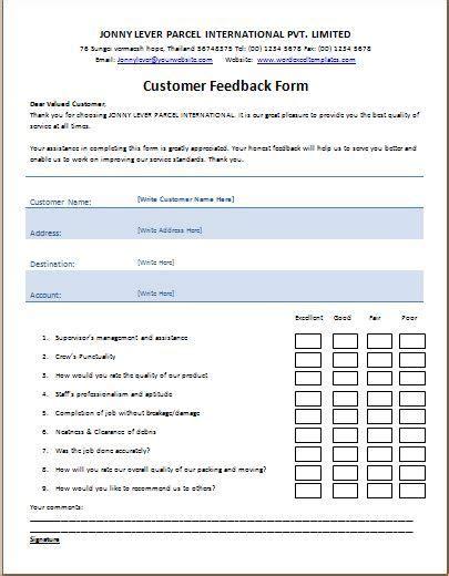 customer feedback form template microsoft templates customer feedback customer survey