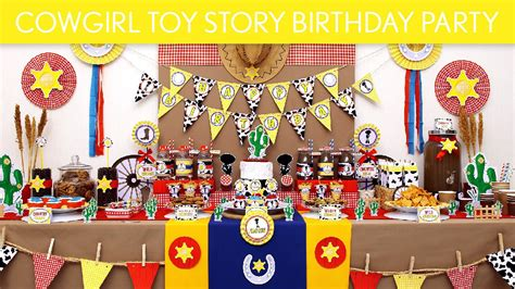 toy story themed birthday party cowgirl toy story birthday party ideas cowgirl toy