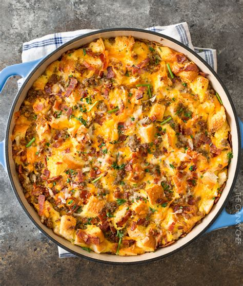 strata recipes easy overnight breakfast strata the chunky chef