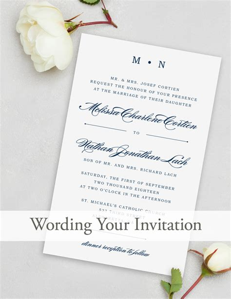 wedding invitation wording magnetstreet weddings