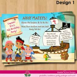 jake and the neverland birthday invitations templates drevio invitations design