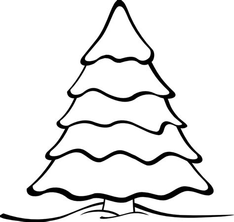 Pine Tree Outline by Pine Tree Clip Black And White Clipart Image Clipartix