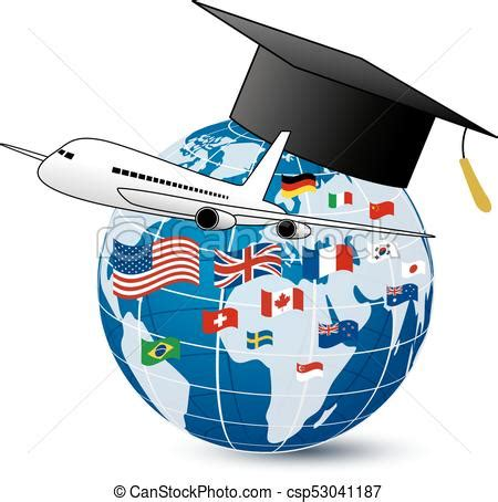 study art design abroad kilroy education study abroad concept design of airplane and world