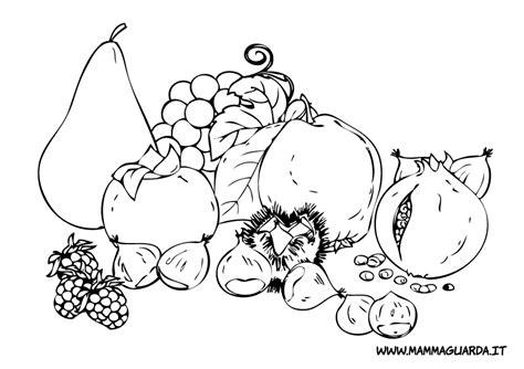disegni sull alimentazione frutta da stare az colorare