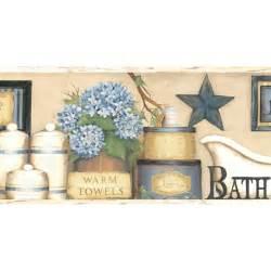 borders bathroom: wallpaper borders bath laundry country bath border