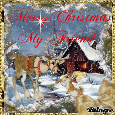 merry christmas  friend picture  blingeecom