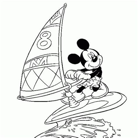 disney coloring pages summer summer coloring windsurf wave sea mickey disney free