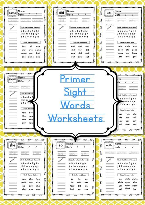 Sight Words Worksheets Free by Free Printable Sight Words Worksheets School Learning