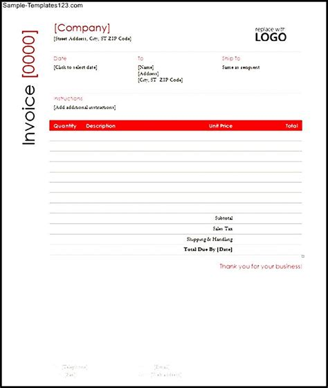 free contractor invoice template word sle templates
