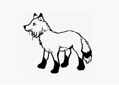 arctic fox coloring page free coloring pages and
