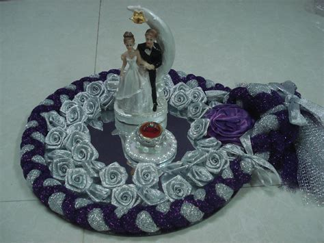purple and silver tray   wedding decorations   Wedding