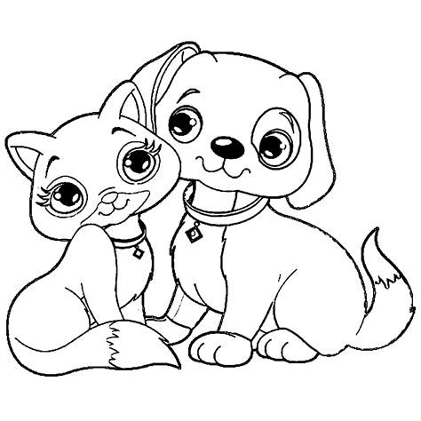 coloring pages dogs and cats coloring europe