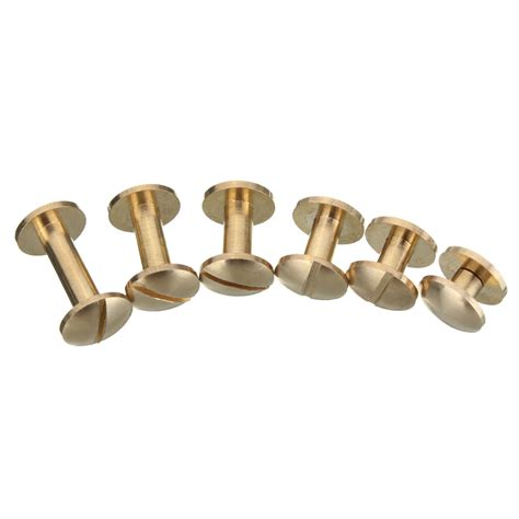 solid brass arc button stud nail 4 15mm back