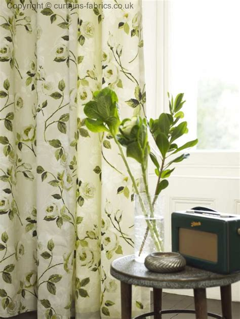 green curtain fabric uk melrose 5943 by prestigious textiles in a curtain in