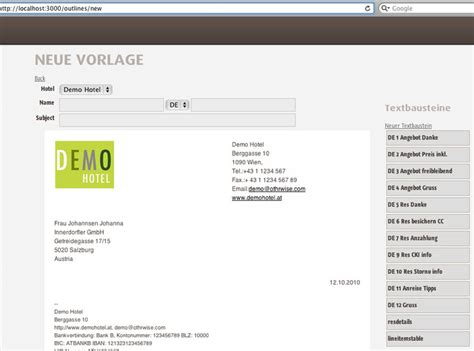 Angebot Erstellen Gebäudereinigung Muster Mehrspachige Hotel E Mail Vorlagen Und Textbausteine