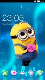 themes android minions download minions love be mine heart android theme htc