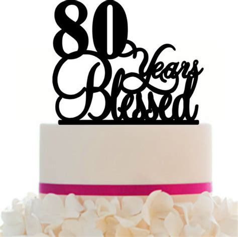 80 years of color books cake topper 80th birthday anniversary personalized 80