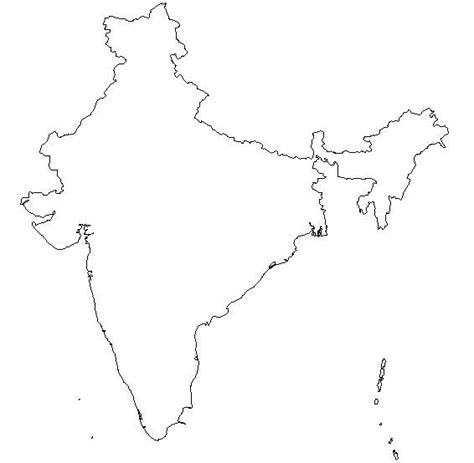 Blank Outline Map Of Ancient India by Blank Outline Map Of India Schools At Look4