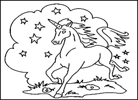 printable unicorn coloring pages  kids