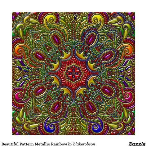 patterns in nature rainbow beautiful pattern metallic rainbow poster beautiful