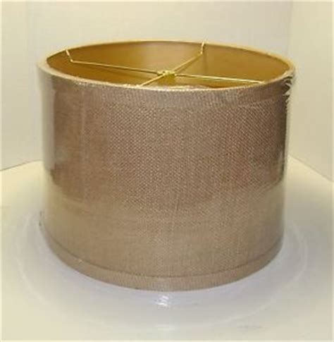 burlap drum l shades ebay