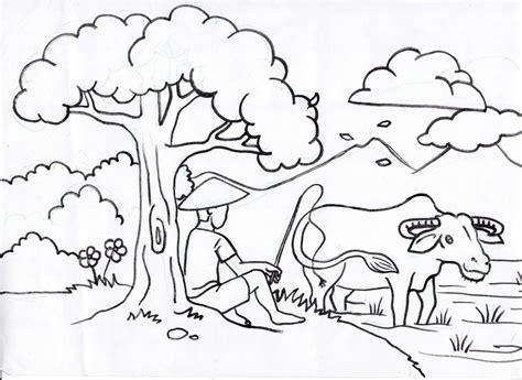 mewarnai gambar pemandangan pantai karikaturku indonesia mewarnai pemandangan alam
