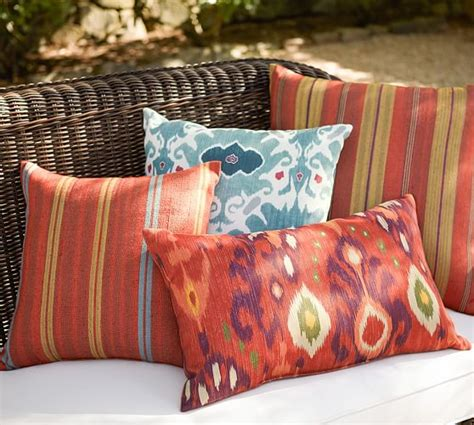 Pottery Barn Outdoor Pillow by Ashton Ikat Print Indoor Outdoor Pillow Pottery Barn
