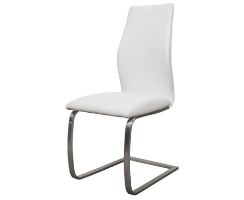 White Faux Leather Dining Chairs Goldman White Faux Leather Dining Chair