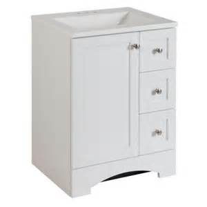 glacier bay lancaster 24 in vanity in white with alpine