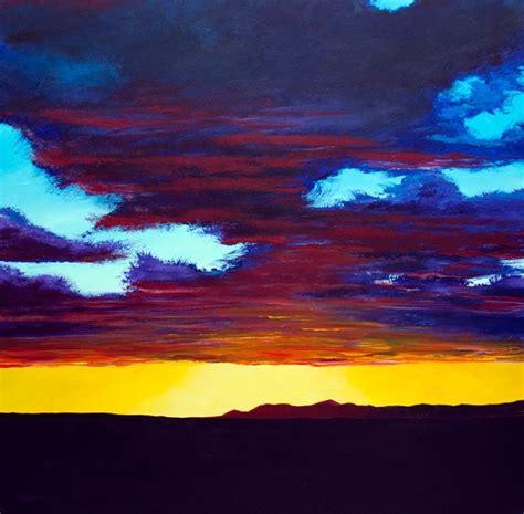 acrylic painting sunset utah sunset original acrylic landscape painting