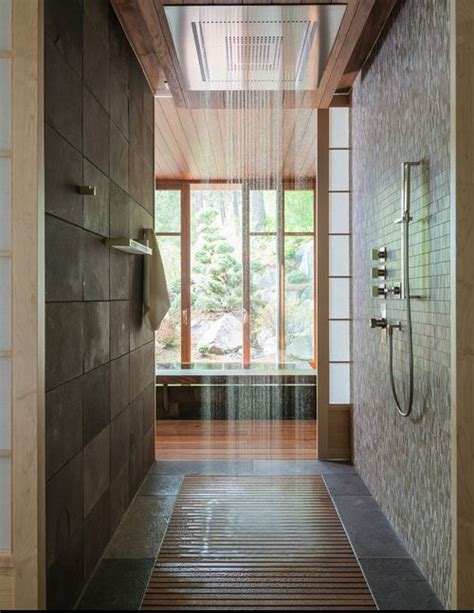 waterfall shower open concept digs
