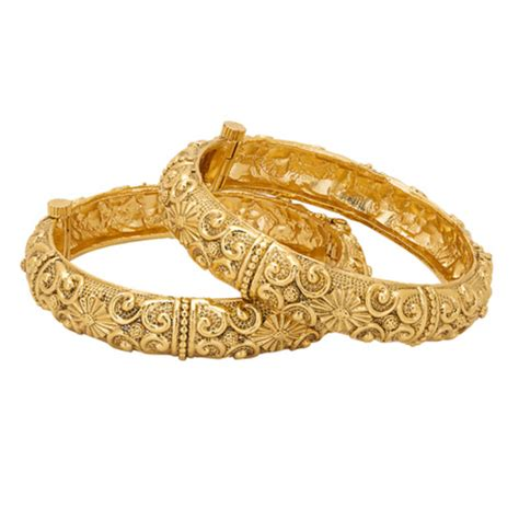 pattern gold bangle buy gold plated antique ethnic bangle set with tribal