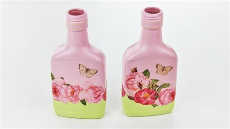 tutorial decoupage botol how to make a decoupage bottles fast easy tutorial
