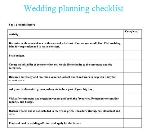 Wedding Checklist Uk by Wedding Planning Checklist Function Fixers