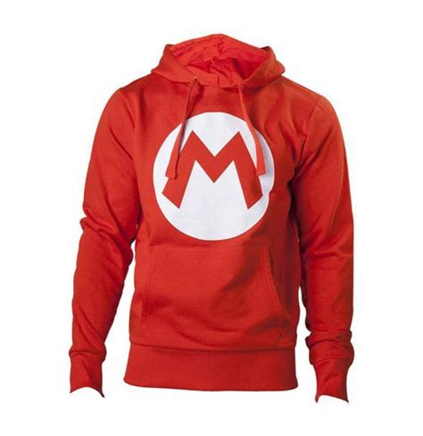 Hoodie Zipper Mario Logo Zemba Clothing nintendo mario bros big mario logo unisex hoodie large for only 163 42 83 at