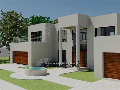 four bedroom double storey house plan m425d nethouseplans