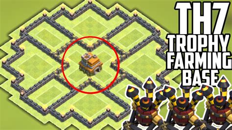 hybrid layout meaning coc new update th7 hybrid base 3 air defenses clash of