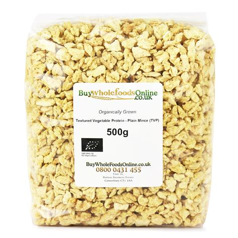 Organic Textured Vegetable Protein   Plain Mince (TVP