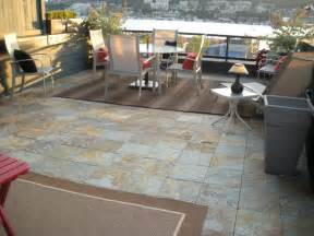 beton fliesen terrasse interlocking slate deck tiles on patio modern patio