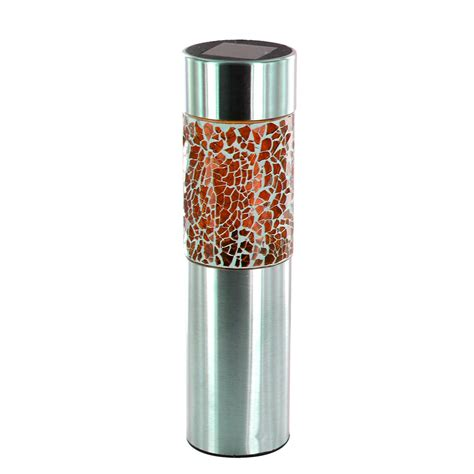 Stainless Steel Solar Powered Mosaic Led Garden Lights Solar Led Bollard Lights