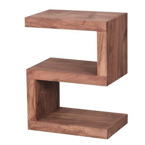 design beistelltische 431 wohnling massivholz beistelltisch s cube akazie stand