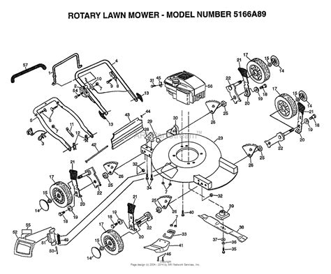 aypelectrolux   parts diagram  rotary lawn mower