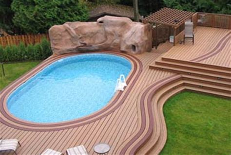 ground pool deck design pictures ideas