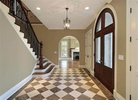 Foyer Tile by Brown Checkered Foyer Tile Floors Flooring By