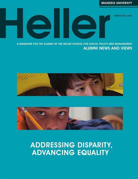 Heller School Mba by Heller Alumni News Winter 2012 2013 By Brandeis