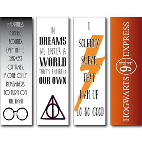 printable divergent bookmarks the bookmark features an image of harry from the films and