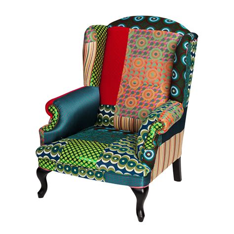Patchwork Chairs Uk - buy desigual patchwork armchair green amara